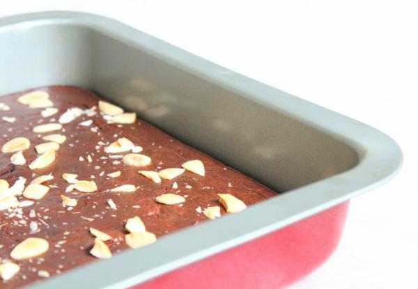 Brownie protéiné aux haricots rouges, chocolat, amandes, vegan, sans gluten, sans lactose sans oeufs