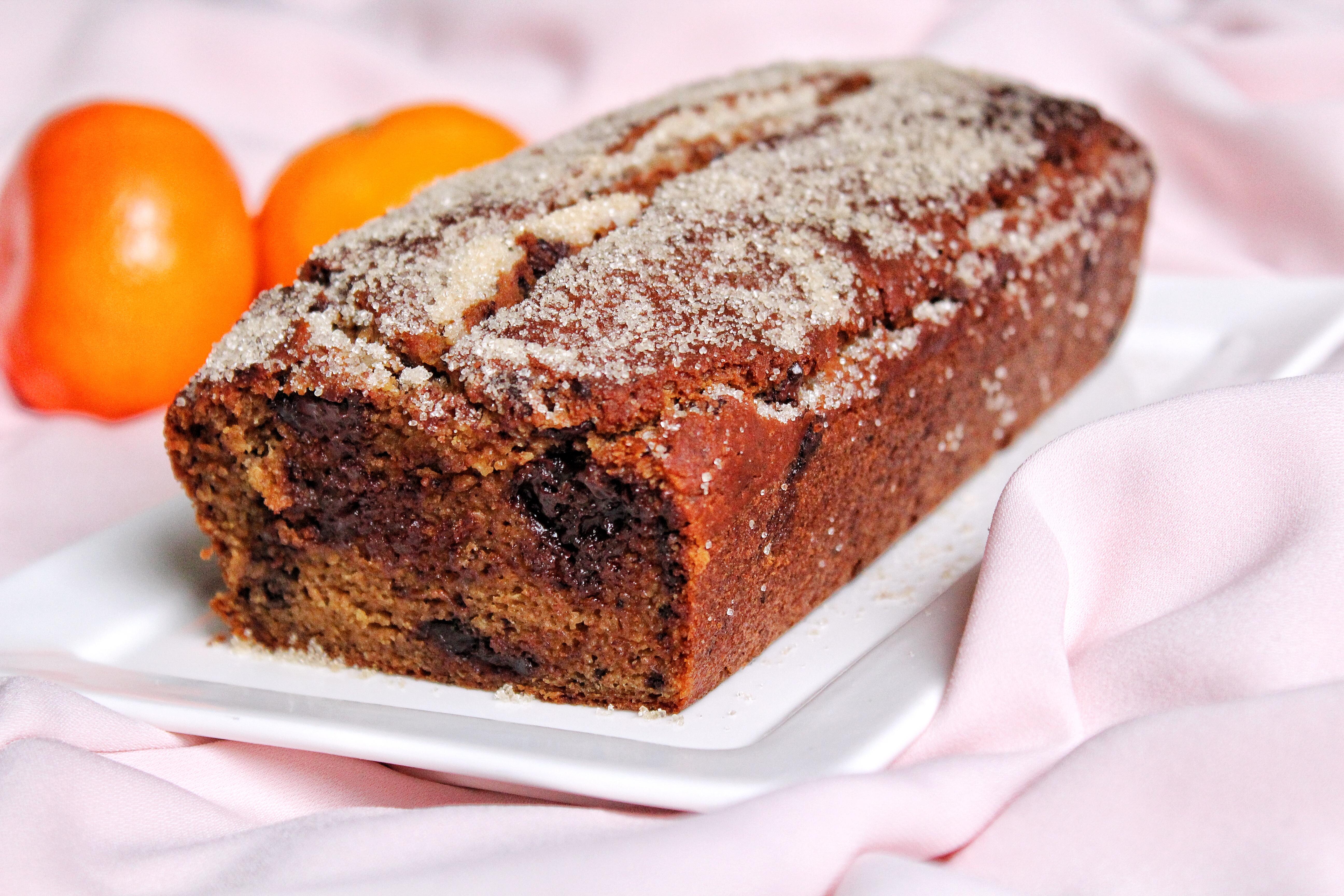 Cake orange pépites chocolat vegan sans gluten sans lactose végétarien sans œufs