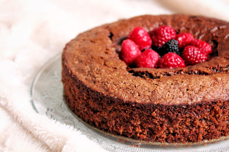 Gâteau chocolat courgette amande vegan sans gluten sans lactose sans oeufs