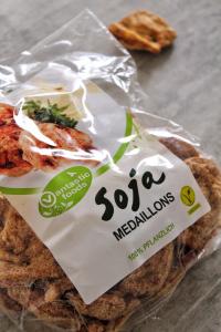 Médaillons protéines soja texturées vegan sans viande
