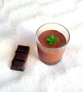 mousse chocolat jus pois chiche vegan sans gluten