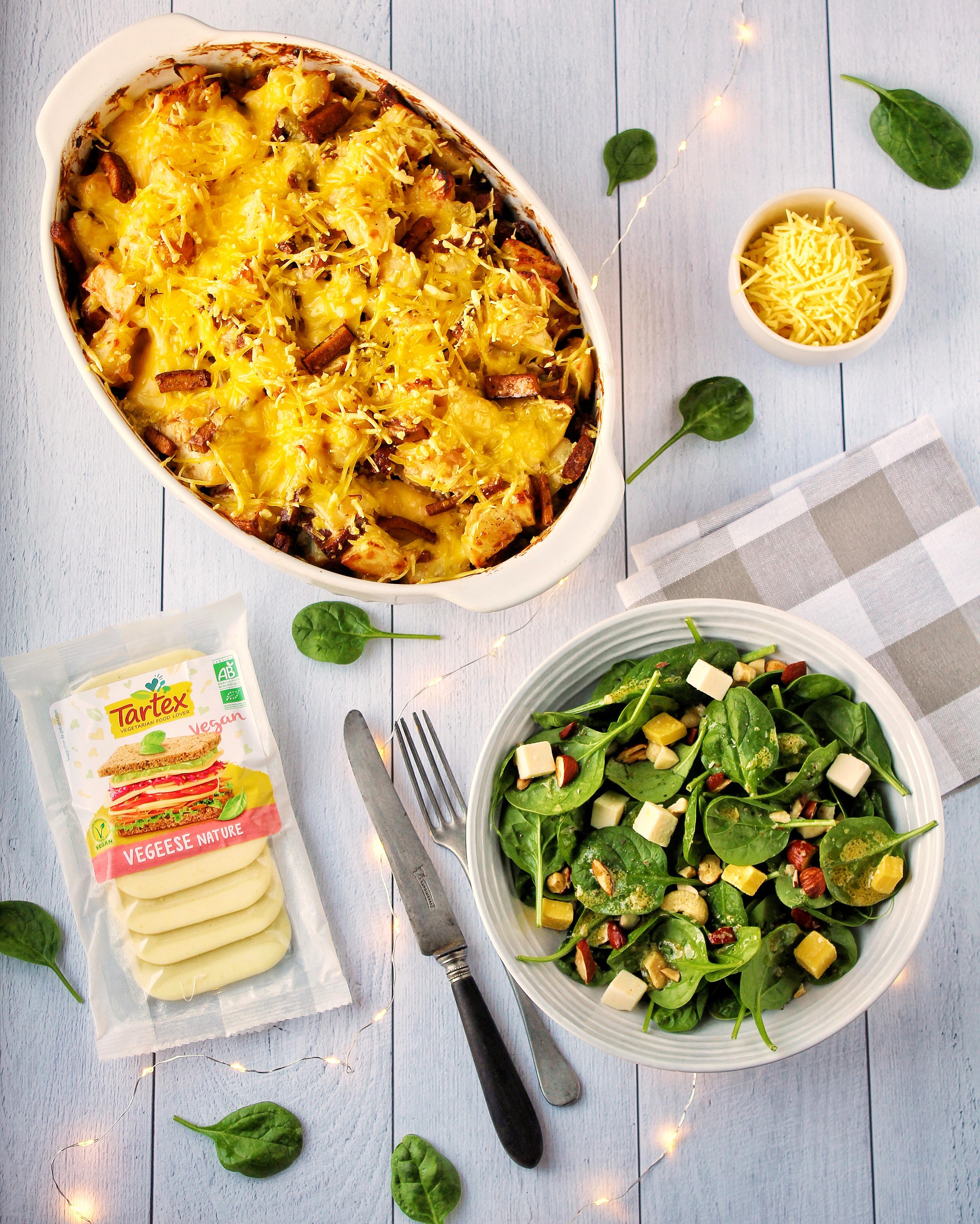 Tartiflette vegan sans gluten tartex