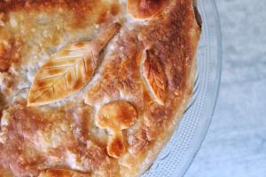 Tourte champignons & châtaignes, vegan, sans gluten, sans lactose